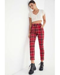 Urban Outfitters - Uo Cece Plaid Mom Pant - Lyst