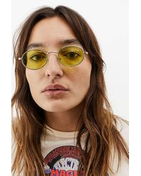 Urban Outfitters Uo Cami Oval Sunglasses - Green