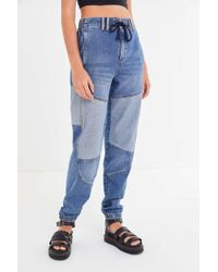 BDG Faust Two-tone Jogger Jean - Blue