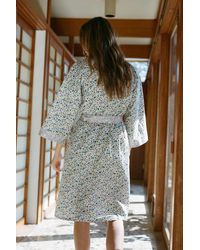 Urban Outfitters Milou Printed Robe - Blue