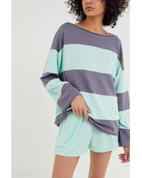 Out From Under - Dean Textured Striped Long Sleeve Tee - Lyst