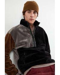 Manastash Bigfoot Quarter Zip Fleece Jacket - Black