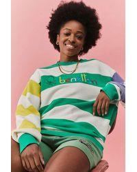Benetton Uo Exclusive Colour-blocked Stripe Sweatshirt - Green