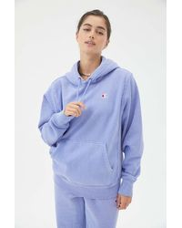 Champion Uo Exclusive Classic C Patch Hooded Sweatshirt - Blue