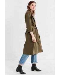Urban Outfitters Uo Classic Trench Coat - Green