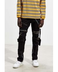 Tripp Nyc Studs And Straps Pant - Black