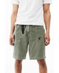 Urban Outfitters Uo Slate Corduroy Knee-length Shorts - Grey
