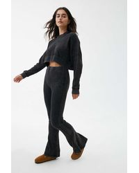 Out From Under Felicity Thermal Flare Pant - Black
