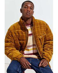 Urban Outfitters Uo Debossed Corduroy Puffer Jacket - Multicolor