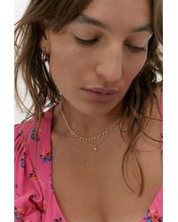 Urban Outfitters Delicate Double Layer Star Necklace - Multicolour