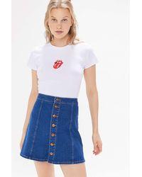 Wrangler Wrangler Denim Button-front Mini Skirt - Blue