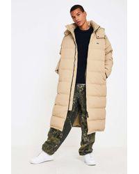 Lacoste L!ive - Sand Longline Puffer Jacket - Mens L - Lyst