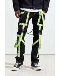Tripp Nyc Crash Neon Strap Skinny Pant - Multicolor