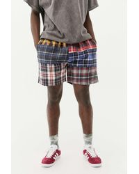 Urban Outfitters Uo Patchwork Check Shorts - Multicolour