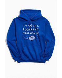 Urban Outfitters Strange Planet Imagine Pleasant Nonsense Hoodie Sweatshirt - Blue