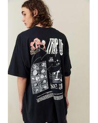 Urban Outfitters Uo Mushroom Trip T-shirt - Black