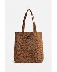 Urban Outfitters Uo Corduroy Animal Print Tote Bag - Brown