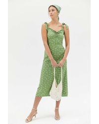 Billabong Amor Sweetheart Midi Dress - Green
