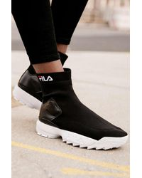 Urban Outfitters x FILA Fila Uo Exclusive Disruptor Sock Boot - Black