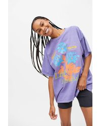 Urban Outfitters Live Mindfully T-shirt Dress - Purple