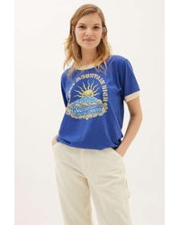 Parks Project Rocky Mountain Ringer Tee - Blue