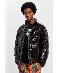 Urban Outfitters Uo Nocturne Nylon Puffer Jacket - Black