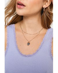 Urban Outfitters - Semi-precious Prism Pendant Necklace - Womens All - Lyst