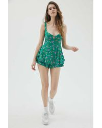 Urban Outfitters Uo Cassie Cutout Romper - Green