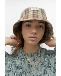 Urban Outfitters Uo Check Bucket Hat - Multicolour
