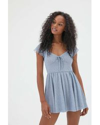 Urban Outfitters Uo Alice Mesh Romper - Blue