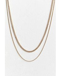 Urban Outfitters Charlie Layered Chain Necklace - Metallic