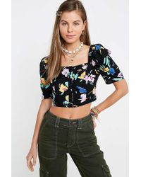 b2afc79116b Urban Outfitters - Uo Ali  80s Print Button-through Blouse - Womens Xs -