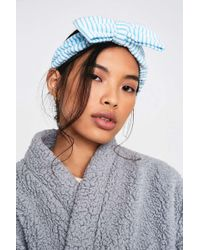 "Urban Outfitters Haarband ""Spa Day"" - Blau"