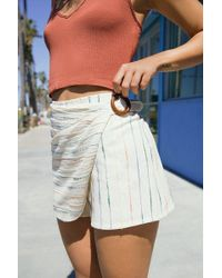 Urban Outfitters - Uo Striped Wrap Skort Short - Lyst