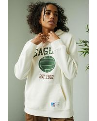 Russell Athletic Uo Exclusive Cream Eagles Hoodie - Multicolour