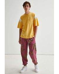 Urban Outfitters Uo Exploded Paisley Print Sweatpant - Pink