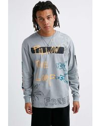 Urban Outfitters Uo Follow The Loop Long-sleeve T-shirt - Multicolour