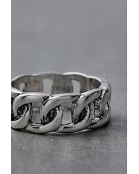 Urban Outfitters Silver-plated Chain Ring - Metallic