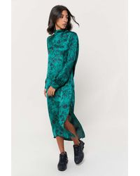 Urban Outfitters - Uo Savona Cowl-back Long Sleeve Dress - Lyst