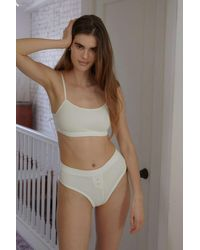 Out From Under Driftwood Organic Cotton Bralette - White