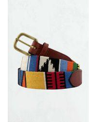 Smathers & Branson Patterned Belt - Multicolor
