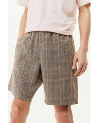 Santa Cruz Brown Checked Local Shorts