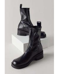 E8 By Miista Doris Front Zip Boot - Black
