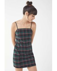 Urban Outfitters - Uo Checkered Mini Slip Dress - Lyst