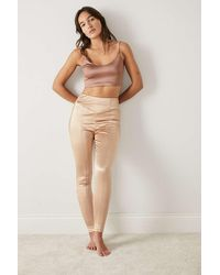 Out From Under Mi Amor Satin Leggings - Natural