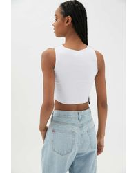 Urban Outfitters Uo Varsity Splice Tank Top - Blue