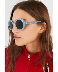 Urban Outfitters - Olivia Oval Sunglasses - Lyst