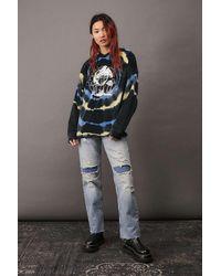 Urban Outfitters Uo Velour Tie-die Mushrooms Hoodie - Multicolour
