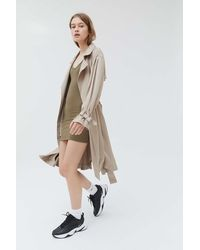 Urban Outfitters Uo Jasper Trench Coat - Natural