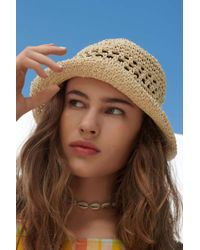 e072ab902a10d Urban Outfitters - Uo Emma Straw Bucket Hat - Lyst